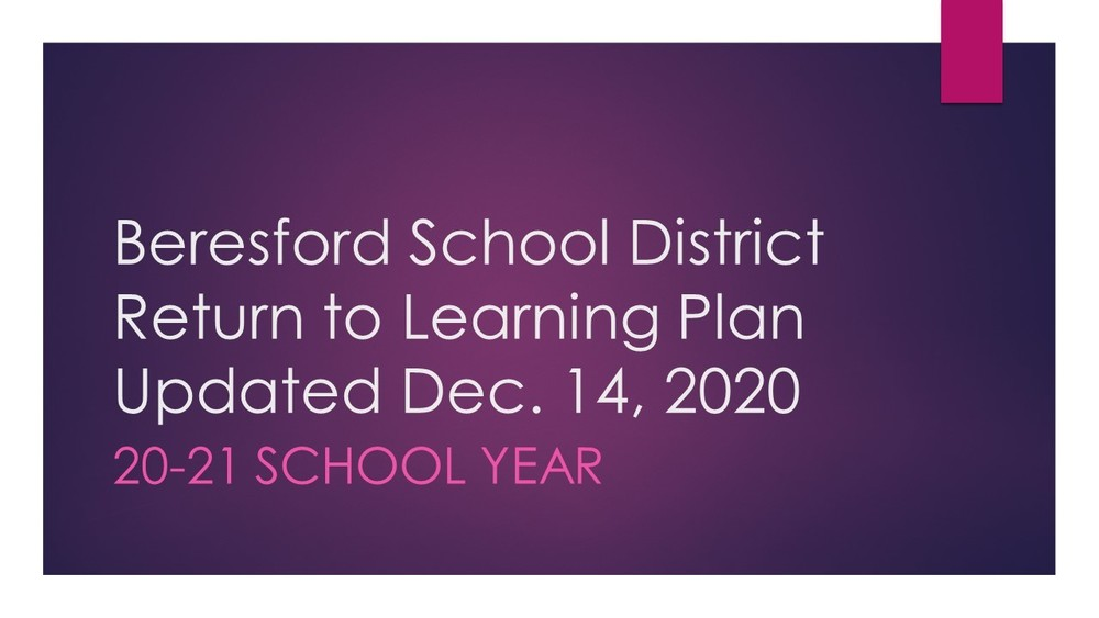 Beresford School Board Approves Updates to the District's Return to Learning Plan