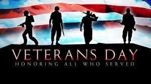 Veterans Day Program on November 12 at 2:30 p.m.