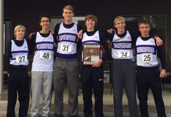 Varsity Boys XC Team Region Runner-up
