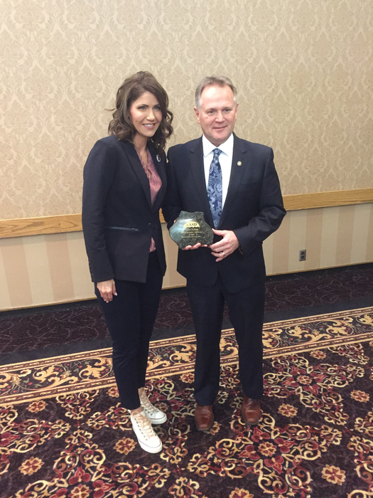 Mr. Nelson with Governor Noem