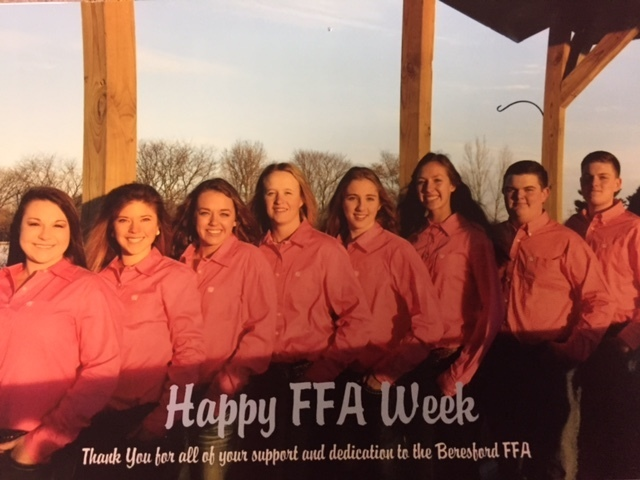BHS FFA Officer Team 18-19