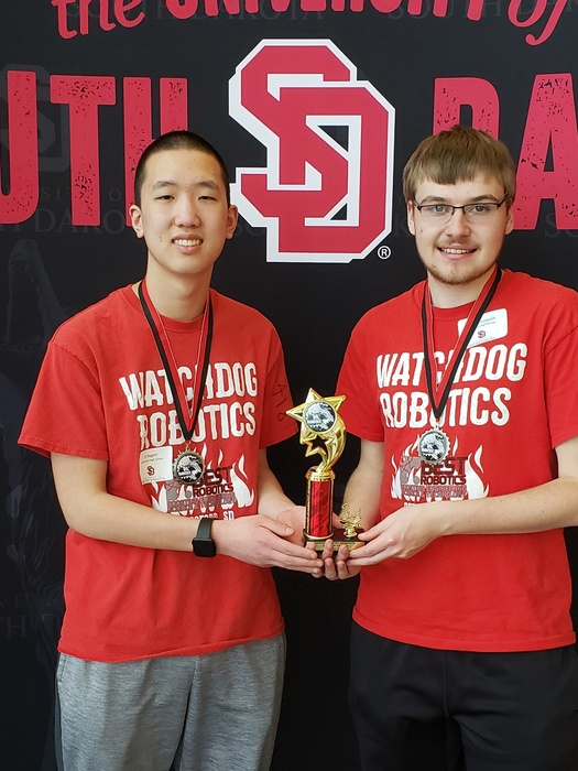 Ty and Casey place 3rd at USD's Battle of the Bots